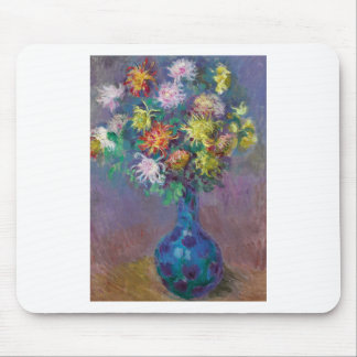 Vase of Chrysanthemums Claude Monet Mouse Pad