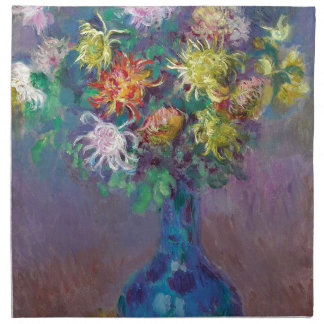 Vase of Chrysanthemums Claude Monet Napkin