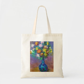 Vase of Chrysanthemums Claude Monet painting Tote Bag
