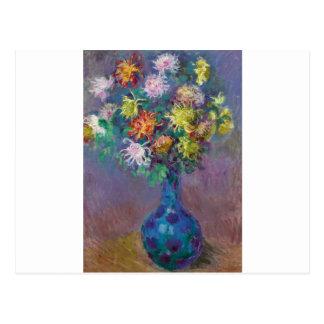 Vase of Chrysanthemums Claude Monet Postcard