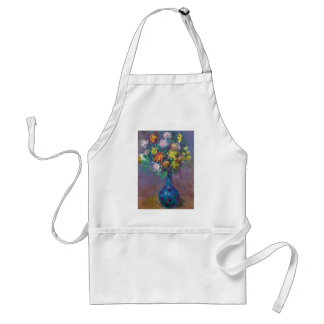 Vase of Chrysanthemums Claude Monet Standard Apron