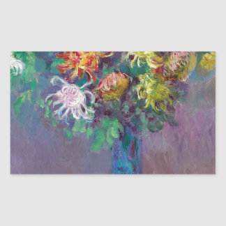 Vase of Chrysanthemums Claude Monet Sticker
