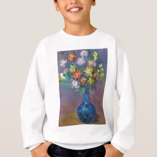 Vase of Chrysanthemums Claude Monet Sweatshirt