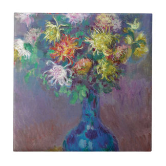 Vase of Chrysanthemums Claude Monet Tile