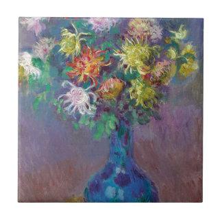 Vase of Chrysanthemums Claude Monet Tiles