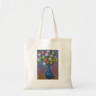 Vase of Chrysanthemums Claude Monet Tote Bag