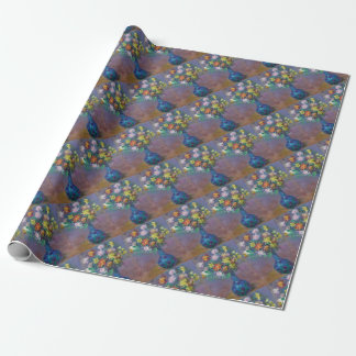 Vase of Chrysanthemums Claude Monet Wrapping Paper
