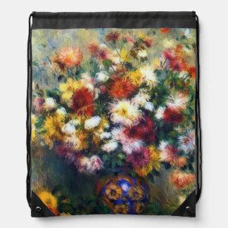 Vase of Chrysanthemuns Renoir Fine Art Backpacks