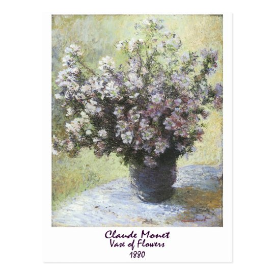 Vase of Flowers by Claude Monet Postcard
