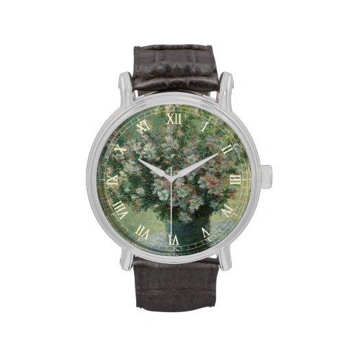 Vase of Flowers by Claude Monet, Vintage Floral Wristwatch