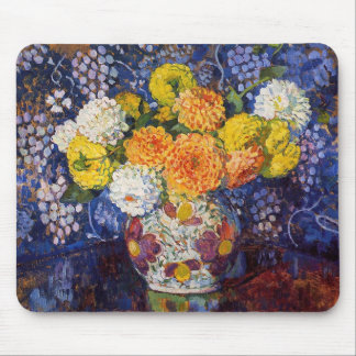 Vase of Flowers by Rysselberghe Mouse Pad