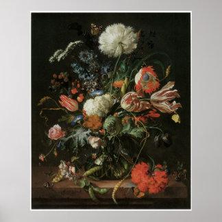Vase of Flowers, c.1660 Print