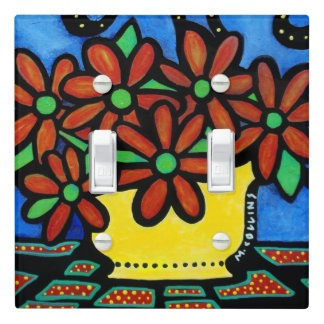 Vase Of Flowers Light Switch Cover