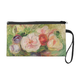 Vase of Flowers (oil on canvas) Wristlet Clutches