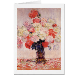 Vase of Peonies by Claude Monet Card