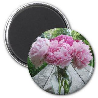 Vase of Pink Peonies Magnet