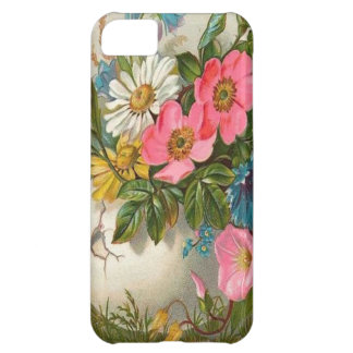 Vase of Pink, White and Blue Flowers iPhone 5C Covers