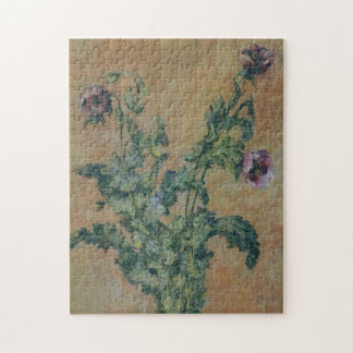 Vase of Poppies Monet Fine Art Jigsaw Puzzle