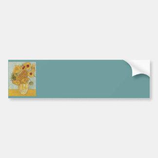 Vase with 12 Sunflowers by Vincent Van Gogh Bumper Sticker