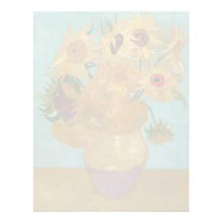 Vase with 12 Sunflowers by Vincent Van Gogh Letterhead