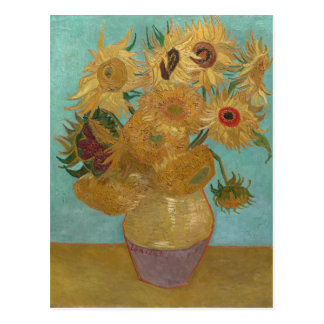 Vase with 12 Sunflowers by Vincent Van Gogh Postcard