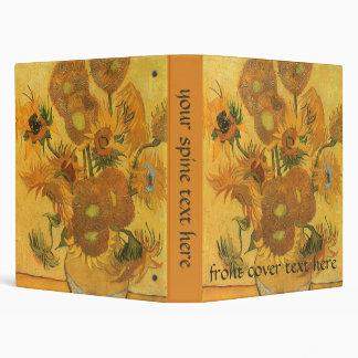 Vase with 15 Sunflowers by Vincent van Gogh Binder