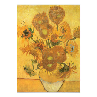 Vase with 15 Sunflowers by Vincent van Gogh Card