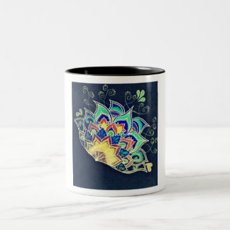 Vase with artistic design Two-Tone coffee mug