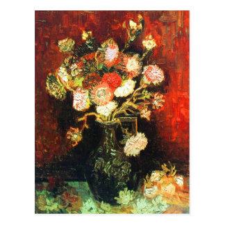 Vase with Asters & Phlox Van Gogh Fine Art Postcard