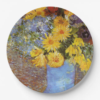 Vase with daisies and anemones - Van Gogh Paper Plate
