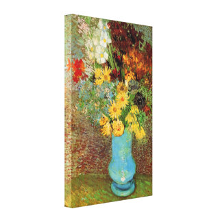 Vase with Daisies and Anemones - Vincent van Gogh Canvas Print