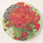 Vase with Daisies and Poppies, Van Gogh Coaster