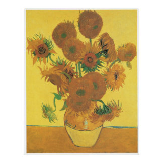 Vase with Fifteen Sunflowers, 1888 Posters