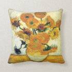 Vase with Fifteen Sunflowers by Vincent van Gogh Throw Pillow