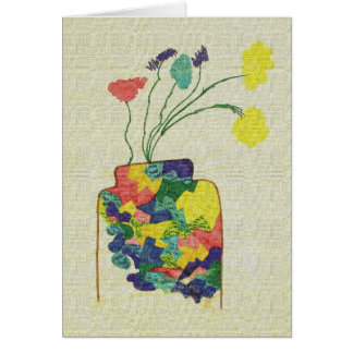 Vase with Flowers - Notecard