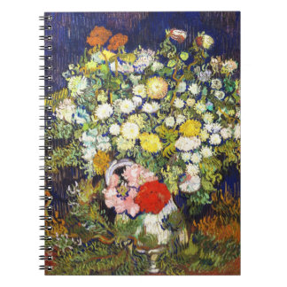 Vase with Flowers Vincent van Gogh fine art Spiral Notebooks