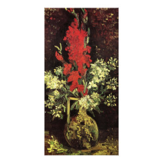 Vase with Gladioli and Carnations by van Gogh Personalized Photo Card