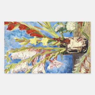 Vase with Gladioli and China Asters van gogh