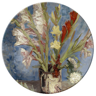 Vase with Gladioli and Chinese Asters by Van Gogh Plate