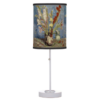 Vase with Gladioli and Chinese Asters by Van Gogh Table Lamp