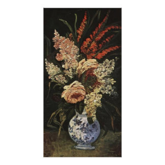 Vase with Gladioli and Lilac by Vincent van Gogh Poster