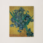 Vase with Irises by Vincent van Gogh, Vintage Art Jigsaw Puzzle