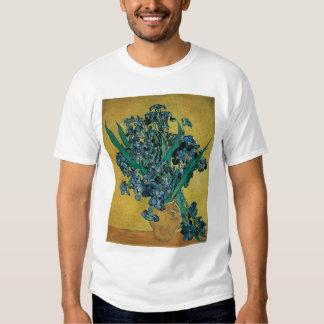 Vase with Irises by Vincent van Gogh, Vintage Art Tee Shirt
