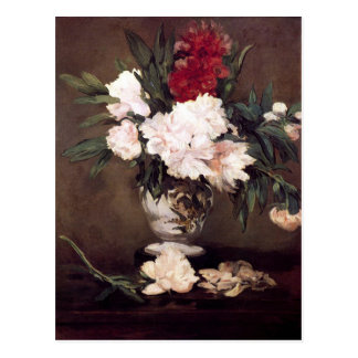 Vase with Peonies by Edouard Manet Postcard