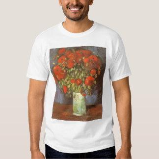 Vase with Red Poppies by Van Gogh, Vintage Flowers Tshirts