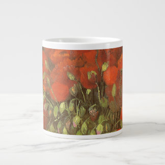 Vase with Red Poppies by Vincent van Gogh Large Coffee Mug