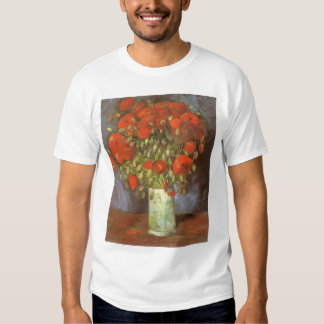 Vase with Red Poppies by Vincent van Gogh Tshirts