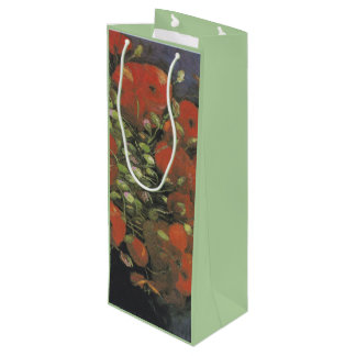 Vase with Red Poppies by Vincent van Gogh Wine Gift Bag