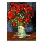 Vase with Red Poppies Vincent van Gogh. Postcard