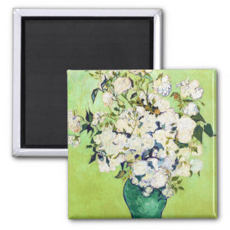 Vase with Roses Vincent Van Gogh painting Magnet